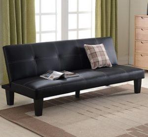 JAEDEN PU Leather Sofa Bed