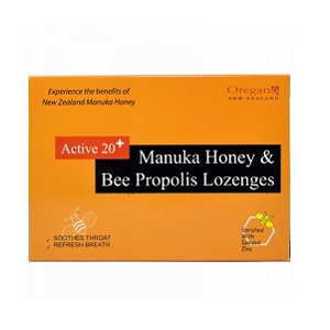 Oregan Manuka Honey & Bee Propolis Lozenges